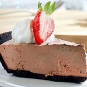 Strawberry Chocolate Truffle Pie