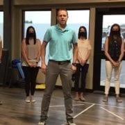 Simon Says stand one leg
