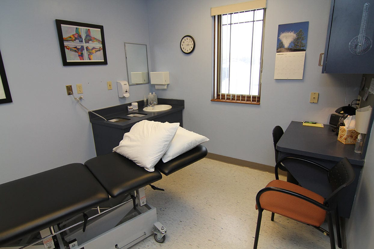 our original space in 2009 - treatment room