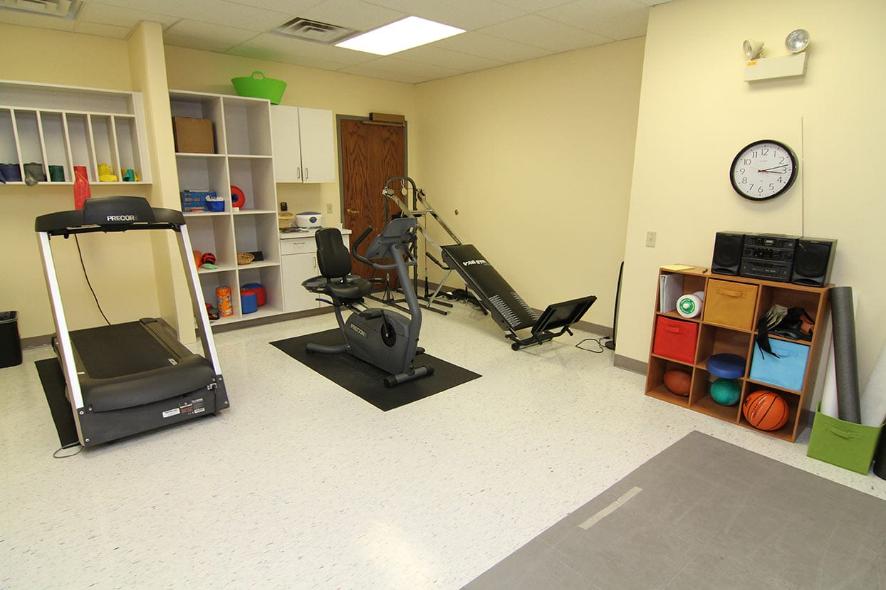 our original space in 2009 - workout room