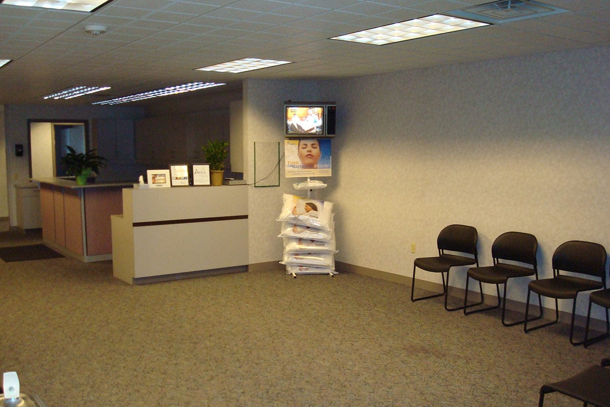 our original space in 2009 - waiting room